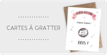Annonces Marraine, carte à gratter - papeterie en ligne