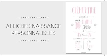 Affiches naissance personnalisées - papeterie en ligne