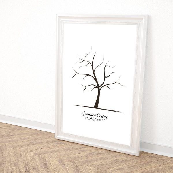 arbre à empreintes mariage, arbre à empreintes personnalisé, animation mariage