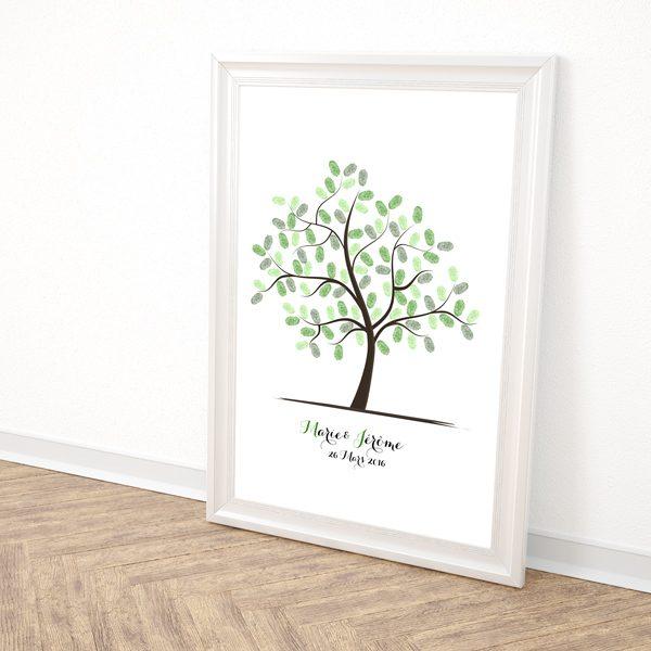 arbre à empreintes mariage, arbre à empreintes personnalisé