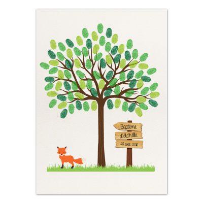 arbre à empreintes, arbre à empreintes baptême, arbre de vie baptême, décoration baptême, cadeau baptême, arbre à empreintes enfant