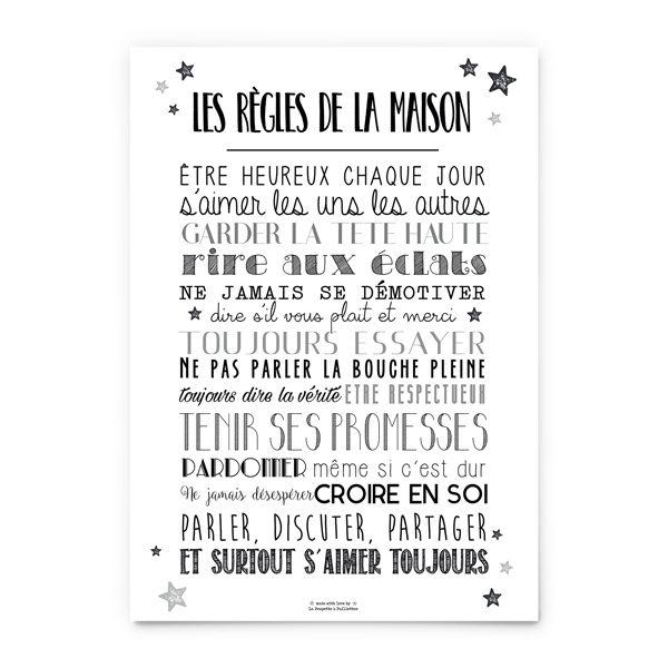 Affiche Les Regles De La Maison La Poupette A Paillettes