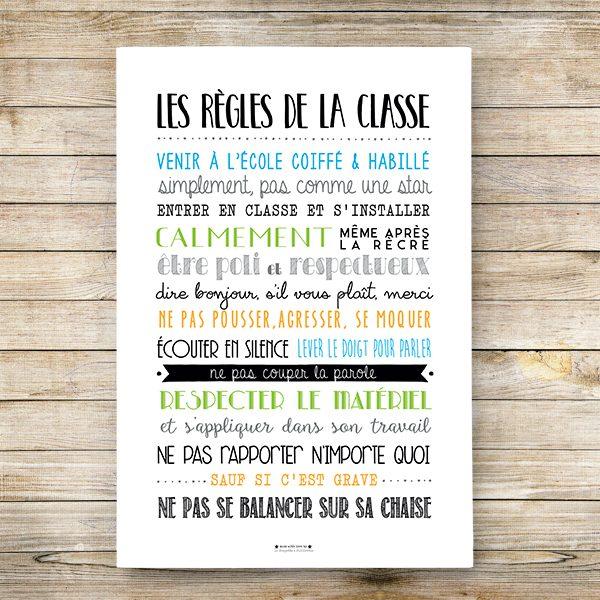affiche les règles de la classe