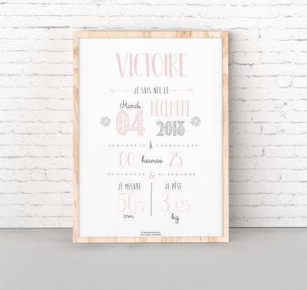 affiche de naissance personnalisée, décoration chambre bébé, affiche bébé, chambre bébé, affiche personnalisée, cadeau de naissance personnalisé