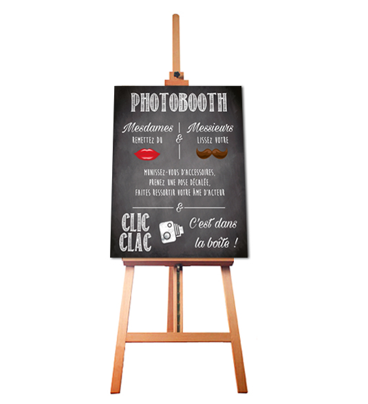 affiche photobooth mode d'emploi