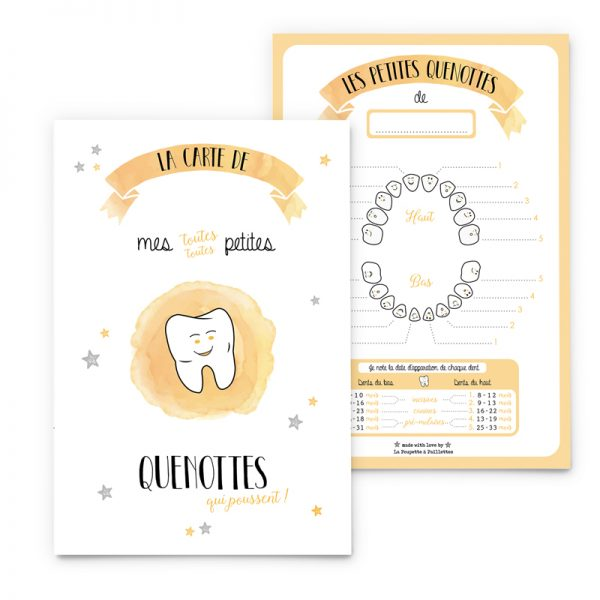 dents de lait carte