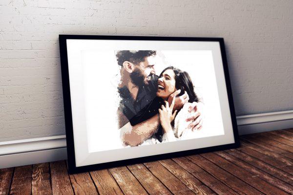 affiche photo personnalisée, artistique, effet modern art, cadeau saint valentin, original, personnalisé - papeterie en ligne