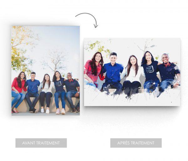photo personnalisée famille effet artistique