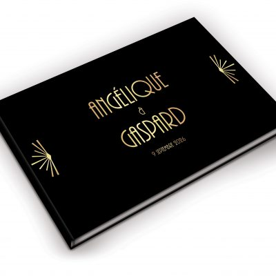 livre d'or personnalisé, faire-part gatsby, thème années 20
