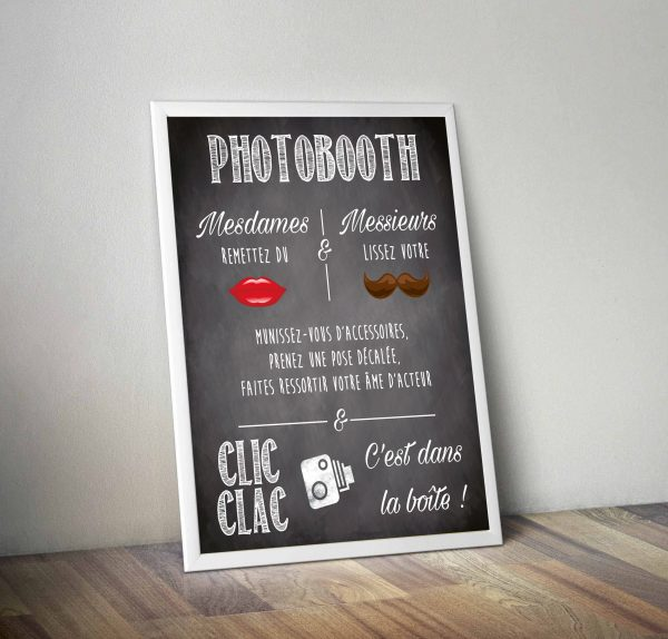 affiche photobooth, mode d'emploi photobooth, photobooth mariage