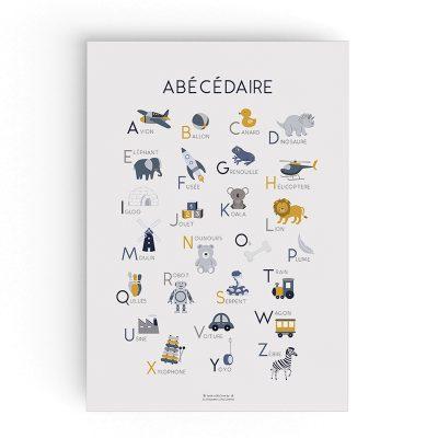 affiche abécédaire alphabet